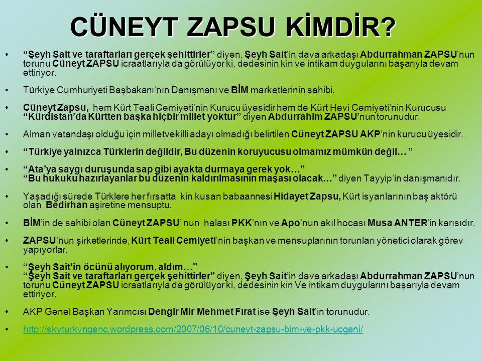 ZİNCİR ECZANE = CÜNEYT ZAPSU Eczane zincirlerinin, Cüneyt Zapsu ve kardeşleri (ve tabii ki adı kayıtdışı tutulan diğer isimler!) tarafından kurulan ve