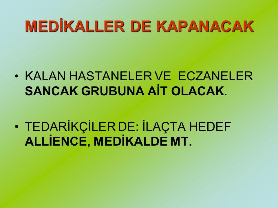 SANCAK GRUBU = ETHEM SANCAK Ethem Sancak, Türkiye'de 1.5 milyar dolar ciro yapan ve ilaç dağıtımının yüzde 40'ını kontrol eden Hedef Alliance'ın sahib