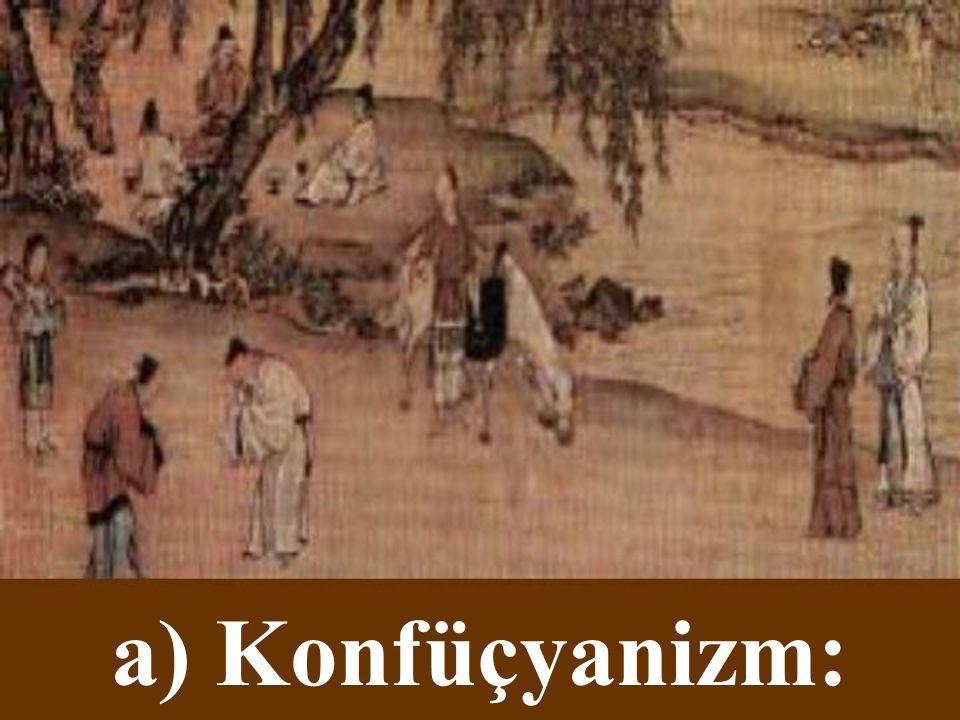 Çin Dinleri a) Konfüçyanizm b) Taoizm