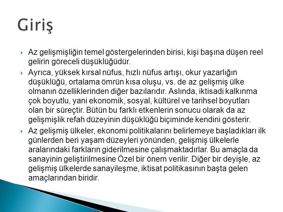 Kalkınan bir ülke olarak Türkiye nin ithalâtında en büyük payı ara malları ile yatırım mallan tutmaktadır.