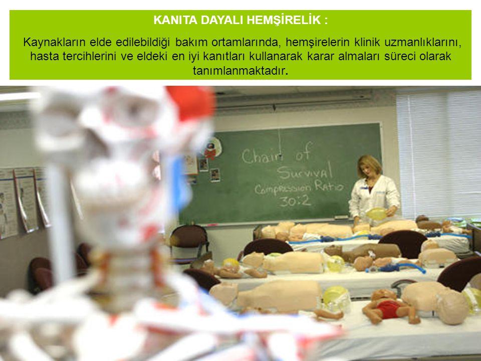 KANITA DAYALI HEMŞİRELİK : Kaynakların elde edilebildiği bakım ortamlarında, hemşirelerin klinik uzmanlıklarını, hasta tercihlerini ve eldeki en iyi k