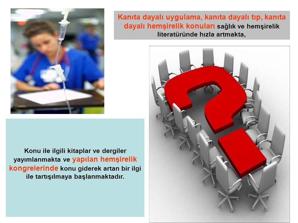 KANITA DAYALI HEMŞİRELİK DERGİLERİ KANITA DAYALI HEMŞİRELİK (http://ebn.bmjjournals.com) Bu dergide sağlıkla ilgili literatürden, hemşirelik açısından önemli gelişmelerle ilgili araştırma ve incelemelerin özeti ve uzman görüşleri yayınlanır.