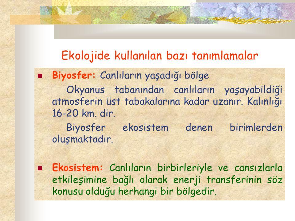 Komünite: Her ekosistemin kendine özgü yaşama birliği (komünite) vardır.