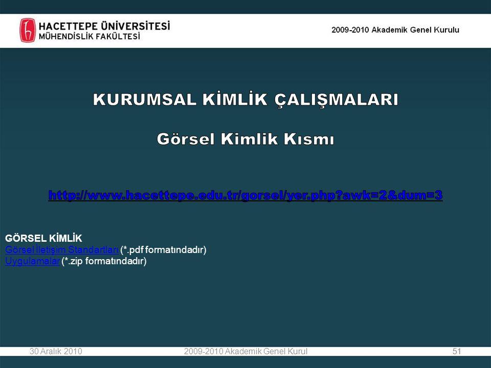 5130 Aralık 20102009-2010 Akademik Genel Kurul51