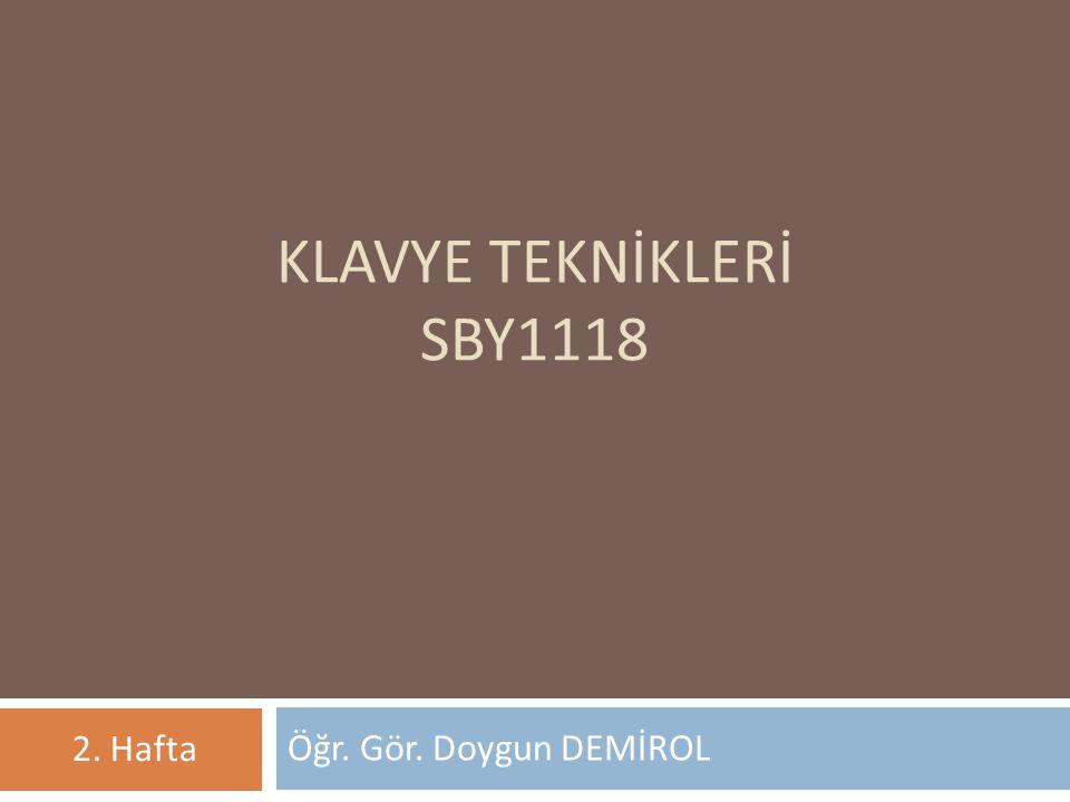 F Klavye ile Q Klavyenin Karşılaştırılması 12 F klavye, Türkçe için özel olarak geliştirilmiş bir klavye olduğundan Türkçe bir metni bu klavyede yazmak, Q klavyede yazmaktan daha kısa sürer.