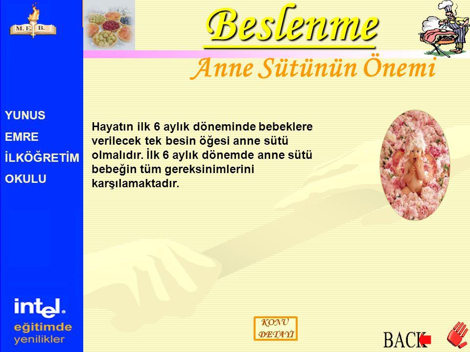 YUNUS EMRE İLKÖĞRETİM OKULU B1 Vitamini Sinir dokularının normal çalışması için gereklidir.