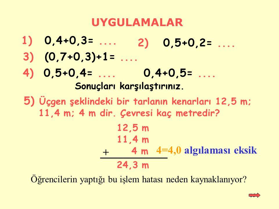 15 0 0,10,20,30,40,50,60,70,80,9 1 0,4 0,5 0,3 0,6 0,4+0,5 - 0,3 = 0,9 - 0,3 = 0,6 Toplama ve Çıkarma Modeli