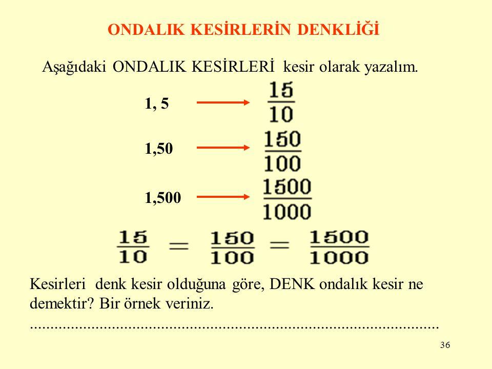 35 Soru.Bir bütün 100 eş parçadan oluşmaktadır.Aşağıdaki modeli ondalık kesir olarak nasıl yazarsınız? 2 Tam/bütün 0,25 Yüzde yirmi beş 2, 25 2 tam On