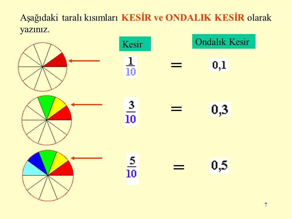 17 0,10,20,30,40 5) Sayı doğrusunda yapılan işlemi matematiksel olarak ifade ediniz.