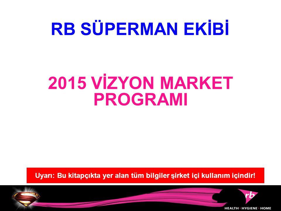 2015 VİZYON MARKET PROGRAMI RB SÜPERMAN EKİBİ Uyarı: Bu kitapçıkta yer alan tüm bilgiler şirket içi kullanım içindir!