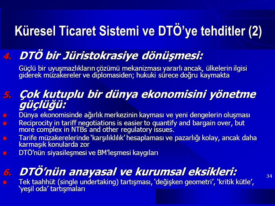 34 Küresel Ticaret Sistemi ve DTÖ'ye tehditler (2) 4.