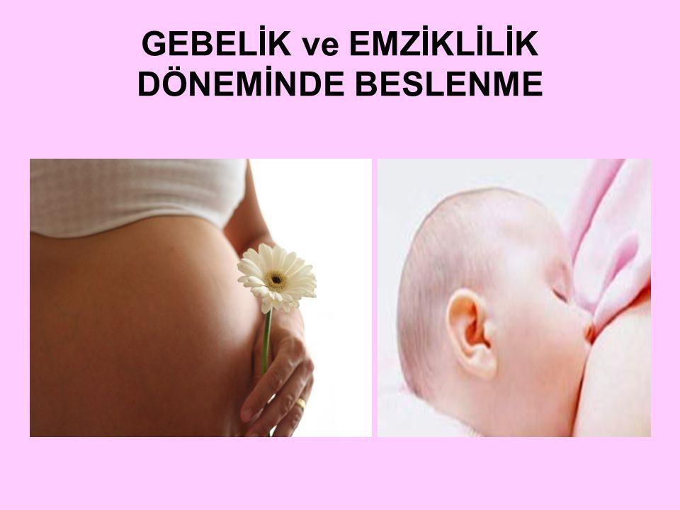  Gebelik ve emziklilik döneminde anne ve bebek sağlığını etkileyen bazı etmenler vardır.