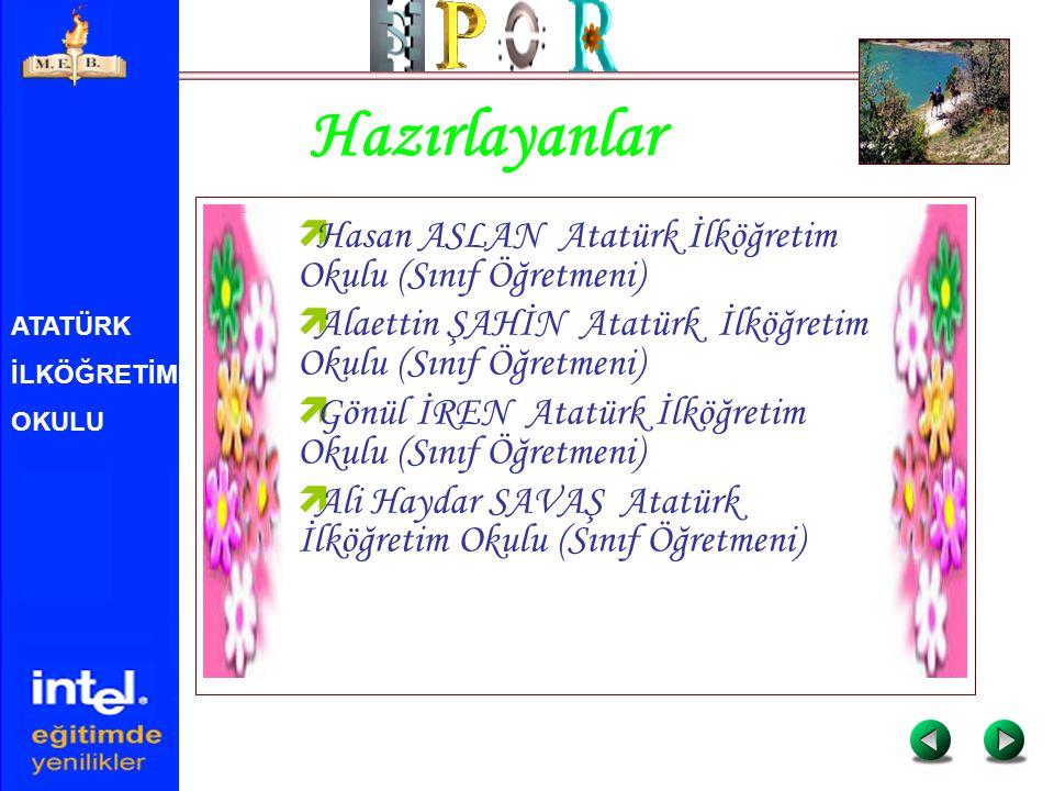 ATATÜRK İLKÖĞRETİM OKULU Hazırlayanlar  Hasan ASLAN Atatürk İlköğretim Okulu (Sınıf Öğretmeni)  Alaettin ŞAHİN Atatürk İlköğretim Okulu (Sınıf Öğret