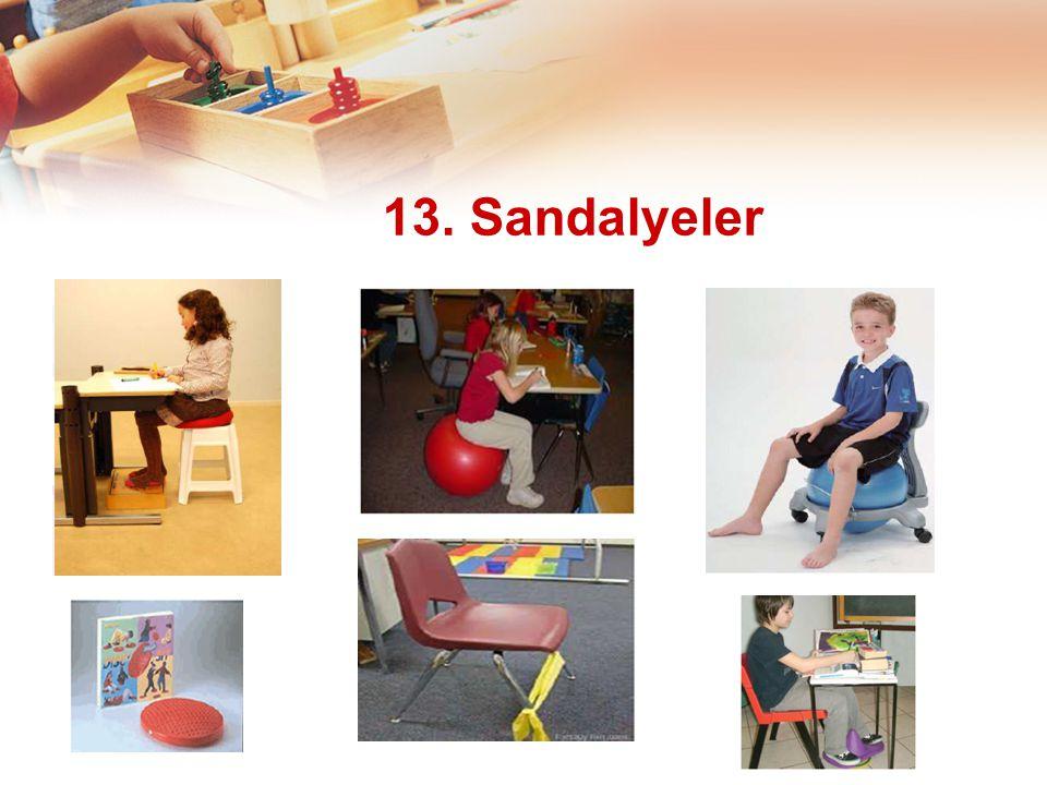 13. Sandalyeler