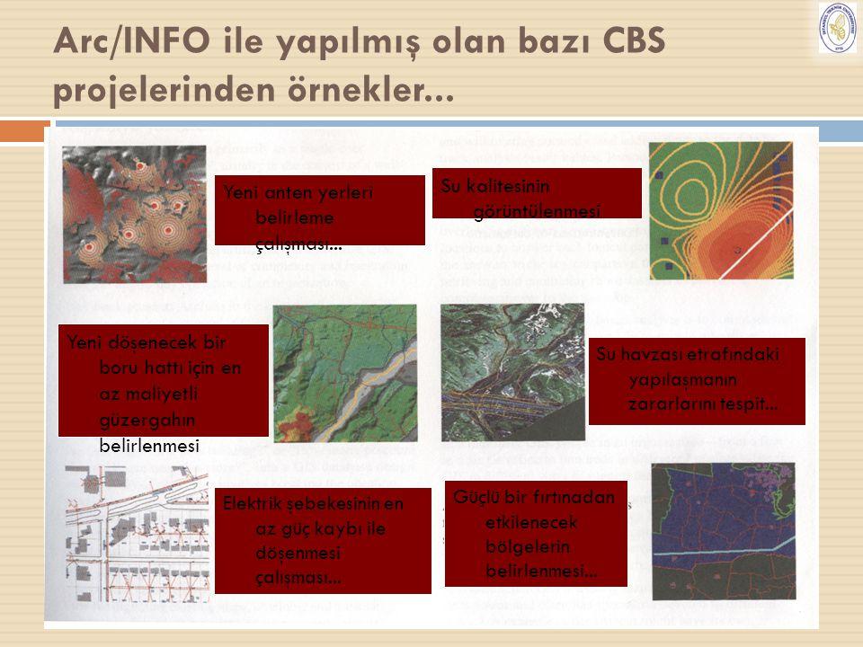 29 Arc/INFO ile yapılmış olan bazı CBS projelerinden örnekler... Yeni anten yerleri belirleme çalışması... Yeni döşenecek bir boru hattı için en az ma