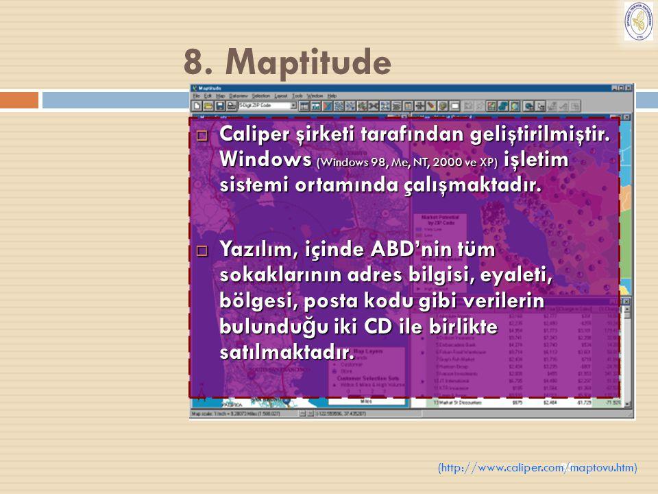 35  Caliper şirketi tarafından geliştirilmiştir. Windows (Windows 98, Me, NT, 2000 ve XP) işletim sistemi ortamında çalışmaktadır.  Yazılım, içinde