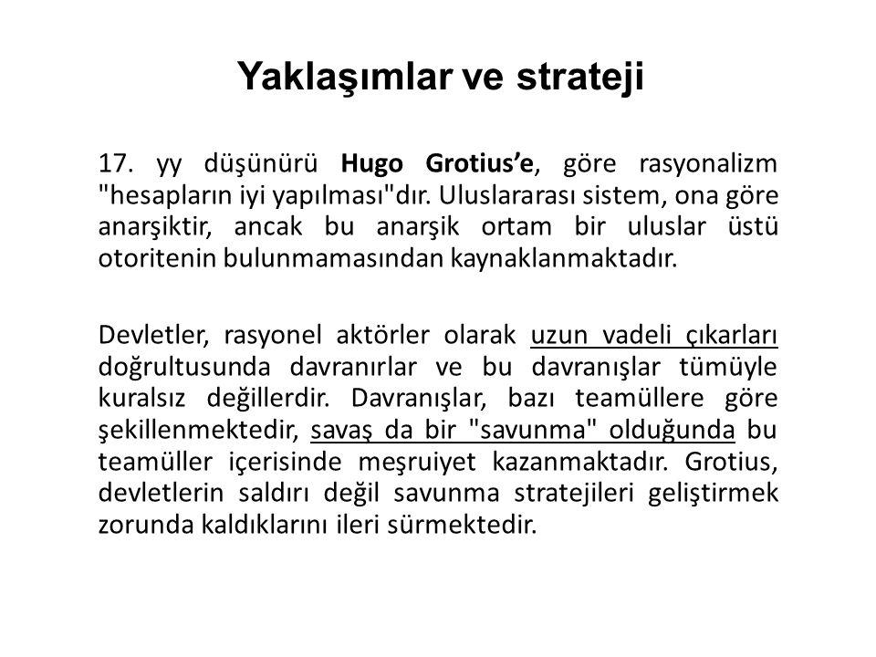 17. yy düşünürü Hugo Grotius'e, göre rasyonalizm