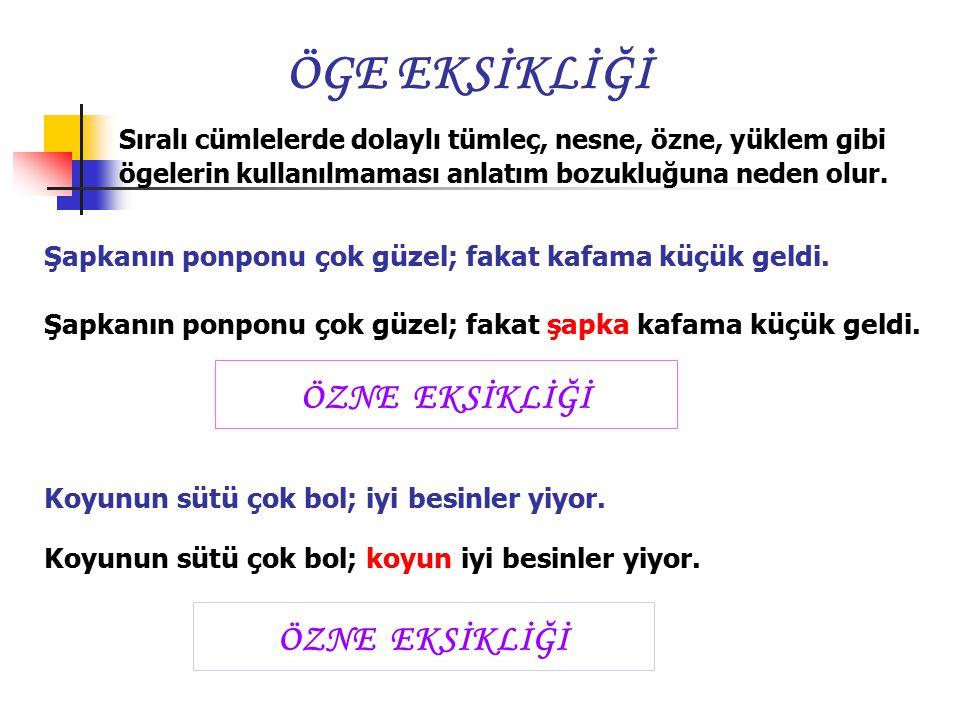 (1998 –OKS ) Aşağıda cümlelerin hangisinde anlatım bozukluğu vardır? A) A) Eski konaklar insanlara daha çekici geliyor. B) B) Uzun yıllardan bu yana b
