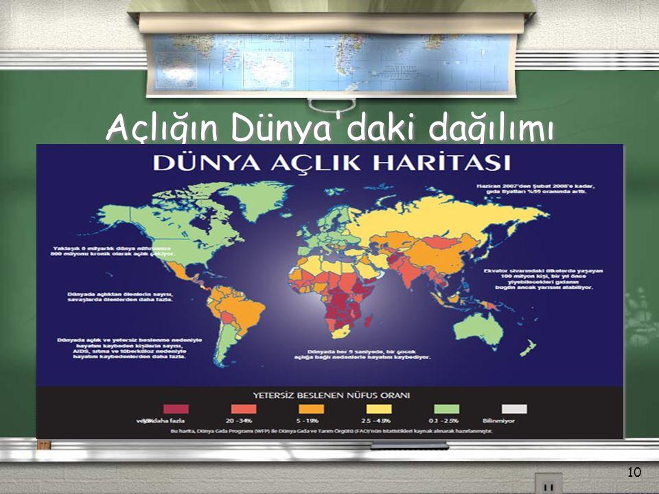 Açlığın Dünya'daki dağılımı 10