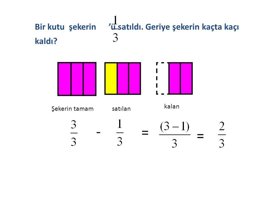  Paydalarından biri diğerinin aynı veya katı olmayan kesirlerle çıkarma işlemi yapılırken;  Her kesir sayısı diğer kesrin paydası ile genişletilir.