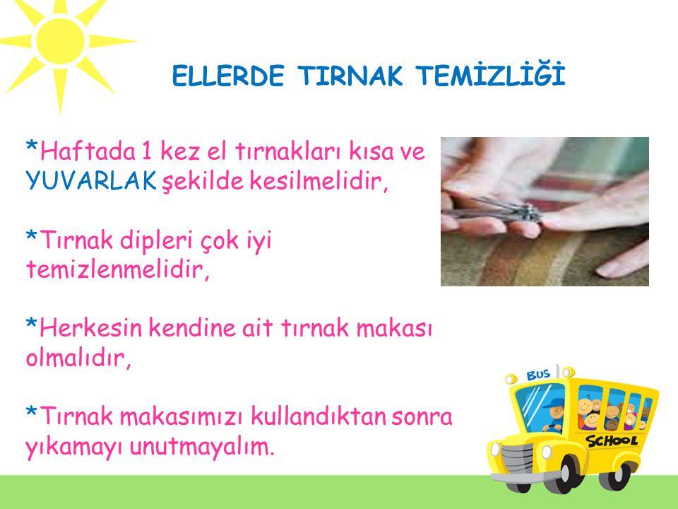 * Eller Kağıt havlu kullanılarak iyice kurutulmalıdır.