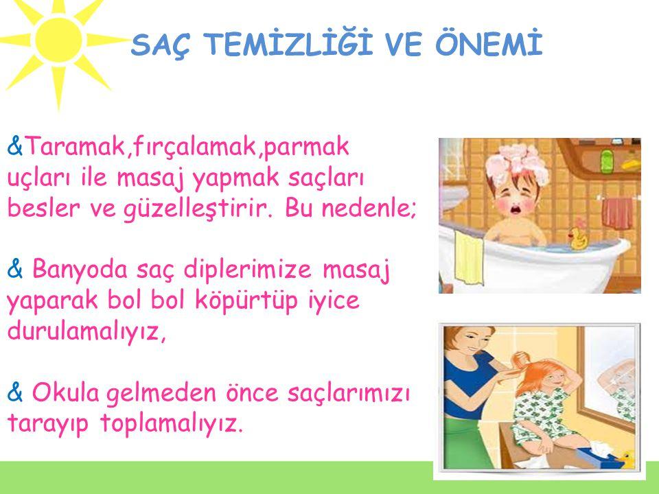 * Deriyi temizlemek, mikropları atmak amacıyla sıcak su ve sabunla banyo yapılmasına deri hijyeni denir. * Mümkünse her gün değilse haftada 3 veya en