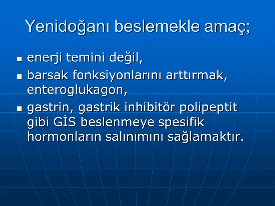 Enerji, protein ve besin gereksinimleri EnerjiProteinSıvı 0-3 ay 110- 120 kkal/kg 0-3 ay 3,3g/kg 0-1 yaş 150- 175 ml/kg 3-5 ay 110- 115 kkal/kg 4-6 ay 2,6g/kg 1-3 yaş 125ml/kg 6-8 ay 100- 110 kkal/kg 7-9 ay 2,1g/kg 9-12 ay 100- 105kkal/kg 9-12 ay 2,1-2 g/kg 1-10 yaş 1000+yaş*10 0 70-80 kkal/kg 1-6 yaş 1,6g/kg
