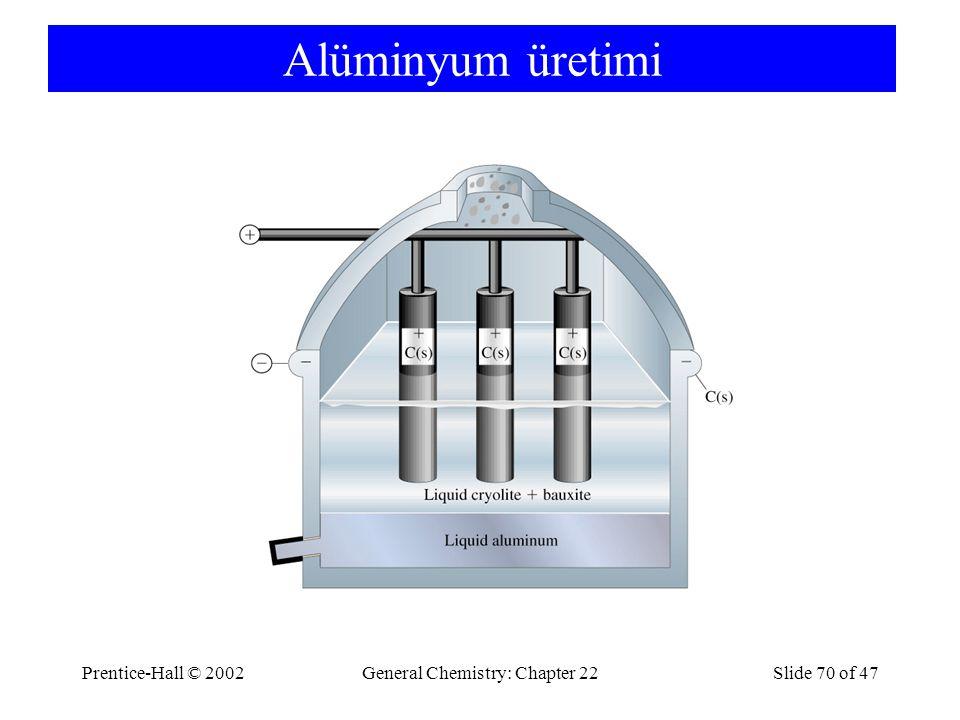 Prentice-Hall © 2002General Chemistry: Chapter 22Slide 70 of 47 Alüminyum üretimi