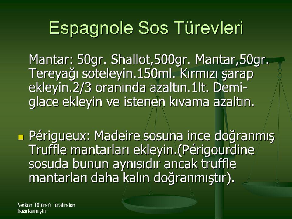 Serkan Tütüncü tarafından hazırlanmıştır Mantar: 50gr. Shallot,500gr. Mantar,50gr. Tereyağı soteleyin.150ml. Kırmızı şarap ekleyin.2/3 oranında azaltı
