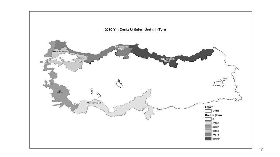 11 FAO Su Ürünleri ve Yetiştiricilik İstatistikleri, 2010