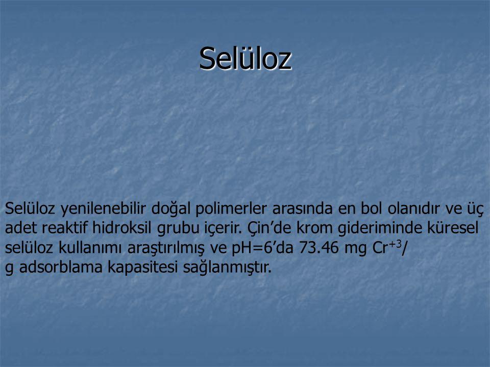 Selüloz Selüloz yenilenebilir doğal polimerler arasında en bol olanıdır ve üç adet reaktif hidroksil grubu içerir.