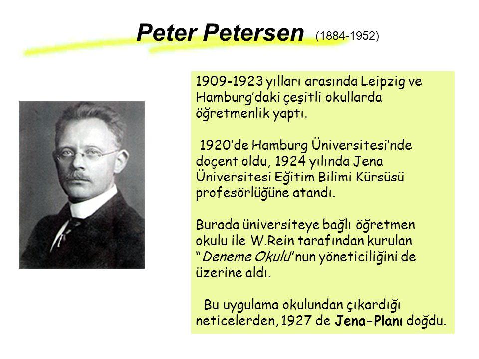 1909-1923 yılları arasında Leipzig ve Hamburg'daki çeşitli okullarda öğretmenlik yaptı. 1920'de Hamburg Üniversitesi'nde doçent oldu, 1924 yılında Jen