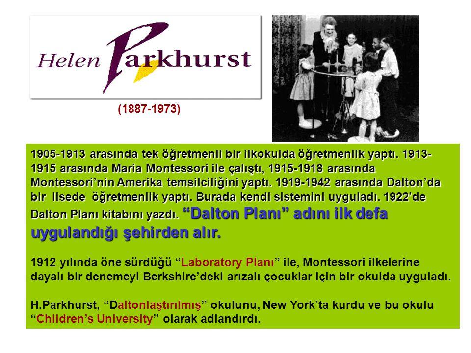 1905-1913 arasında tek öğretmenli bir ilkokulda öğretmenlik yaptı. 1913- 1915 arasında Maria Montessori ile çalıştı, 1915-1918 arasında Montessori'nin