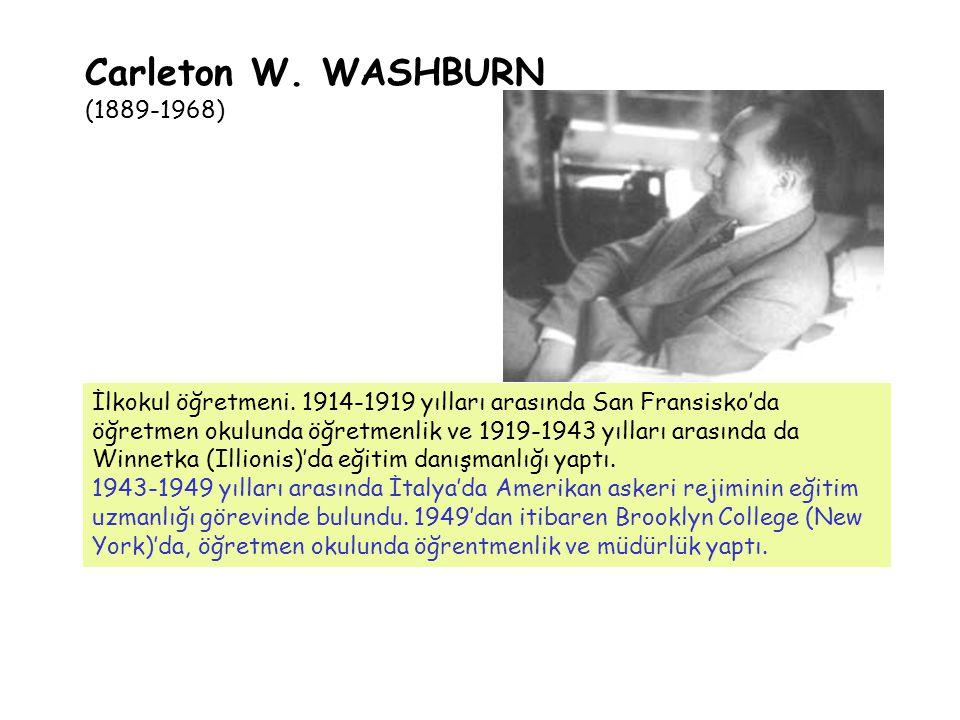 İlkokul öğretmeni. 1914-1919 yılları arasında San Fransisko'da öğretmen okulunda öğretmenlik ve 1919-1943 yılları arasında da Winnetka (Illionis)'da e