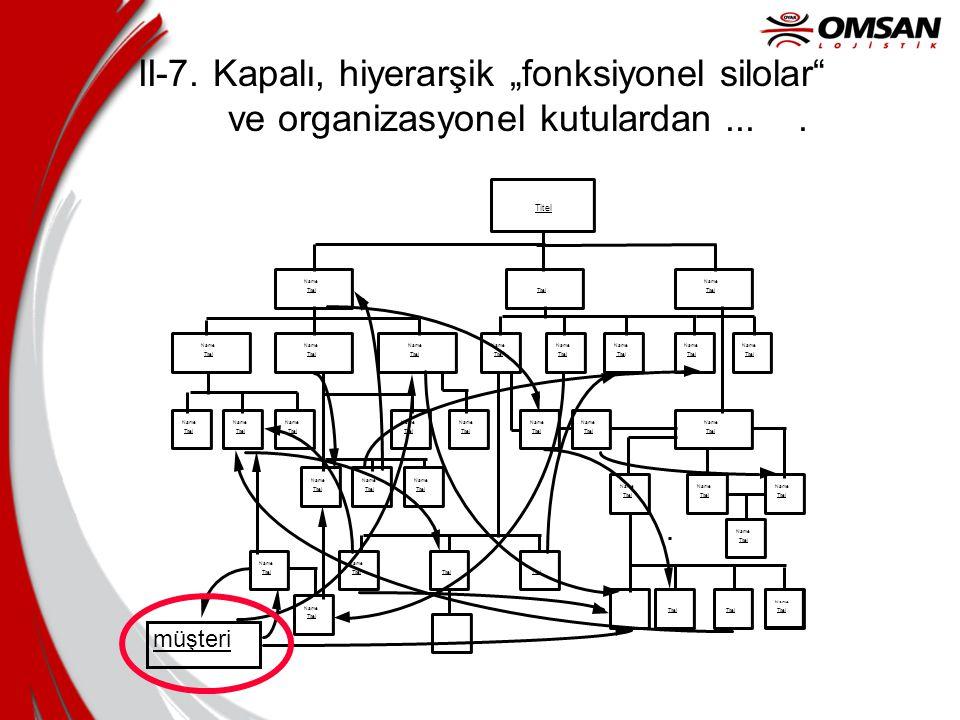 """II-7. Kapalı, hiyerarşik """"fonksiyonel silolar ve organizasyonel kutulardan...."""