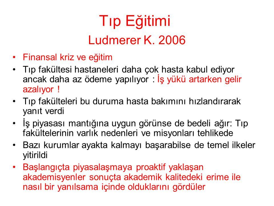 Tıp Eğitimi Ludmerer K.