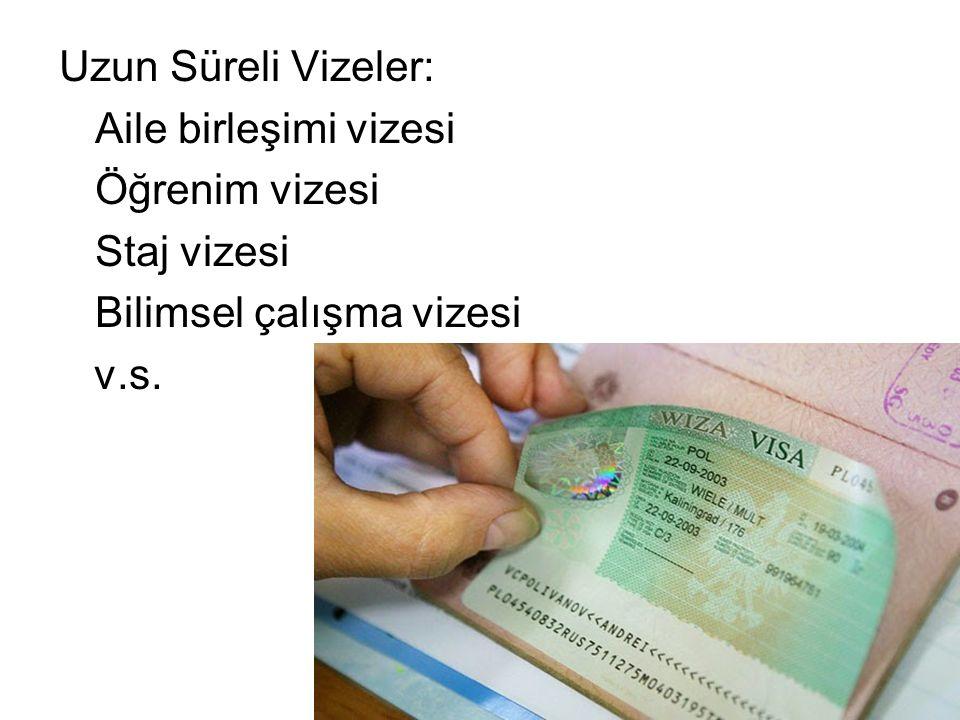 Vize vermek için Alman konsoloslukları çeşitli belgeler talep ederler Aile Birleşimi vizesi için gerekli belgeler: - Evlenme belgesi (evlilik cüzdanı) - Almanca sınav başarı belgesi (Goethe enstitüsü A1 sınav sonuç bildirimi - Almanya'daki eşin kalıcı statü belgesi (oturma izni veya uyrukluk belgesi) - Almanya'daki eşin konut yeterlik belgesi (kira kontratı veya tapu) - Almanya'daki eşin iş ve gelir durumunu belirten belgeler (İşverenin yazılı bildirimi – maaş bordroları) - Türkiye'deki eşin pasaportu ve Almanca sınav belgesi (Goethe Enstitüsü A1 sınav sonuç bildirimi) Ayrıca vize başvurusu yapan eşin Almanya'ya girme yasağı ve bir terör örgütüyle ilişkisi olmaması gerekir.