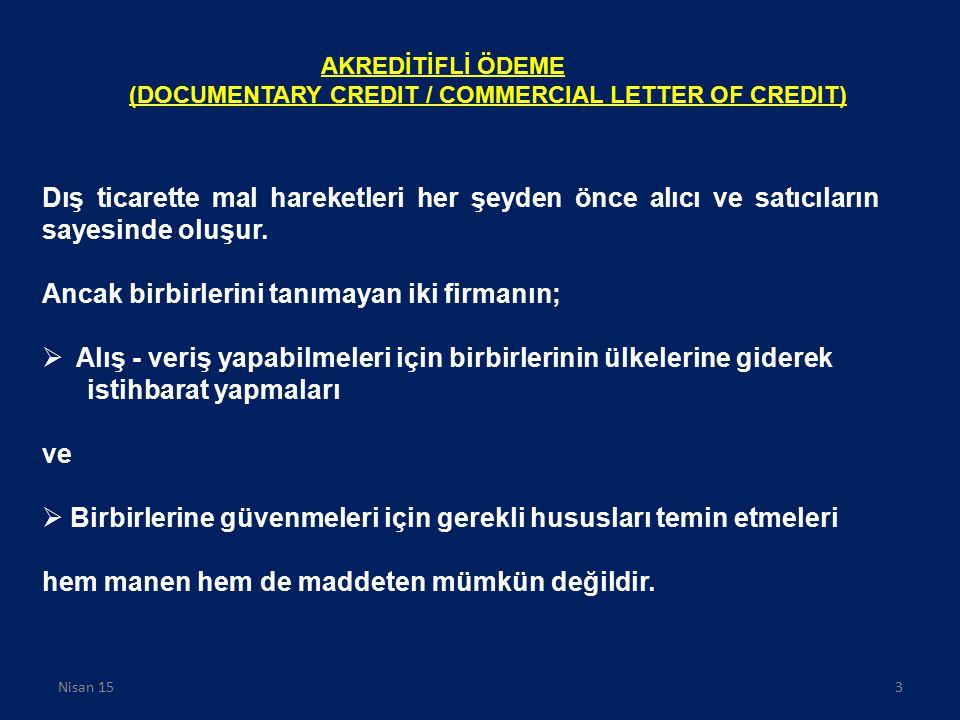 Kaynaklar www.dtm.gov.tr www.gumruk.gov.tr ICC 600 sayılı Broşür-ICC 522-ICC 525-ICC 560(ıncoterms 2000) www.disticaretrehberi.com http://logistics.blogcu.com Erkut Onursal, Ulusal ve Uluslararası Ticari Kurallar ve Uygulama, İstanbul, 2000 Arif Şahin, İGEME, yayınlanmamış seminer notu,2007 Ayşenur Topçuoğlu, Yapı ve Kredi Bankası, Yayınlanmamış Eğitim Notları 2009 Nuray Onat, Dış Ticarette Ödeme ve Teslim Şekilleri, Yayınlanmamış Seminer Notu, 2009 Sema Evren, Incoterms,2009 Yayınlanmamış Seminer Notu N.Can Gürcan,İlhan Bektaş,D.Dilda Atalay,Kot Pantolon İhracatı, Seminer Ödevi,2009 Murat Evirgen, Gümrük İşlemleri,Yayınlanmamış Seminer Notu,2009 DTM,İhracat İşlemleri,Yayınlanmamış Seminer Notu, 2009