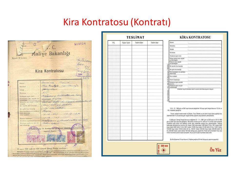 Kira Kontratosu (Kontratı)