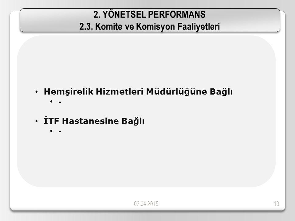 02.04.201513 Hemşirelik Hizmetleri Müdürlüğüne Bağlı - İTF Hastanesine Bağlı - 2.