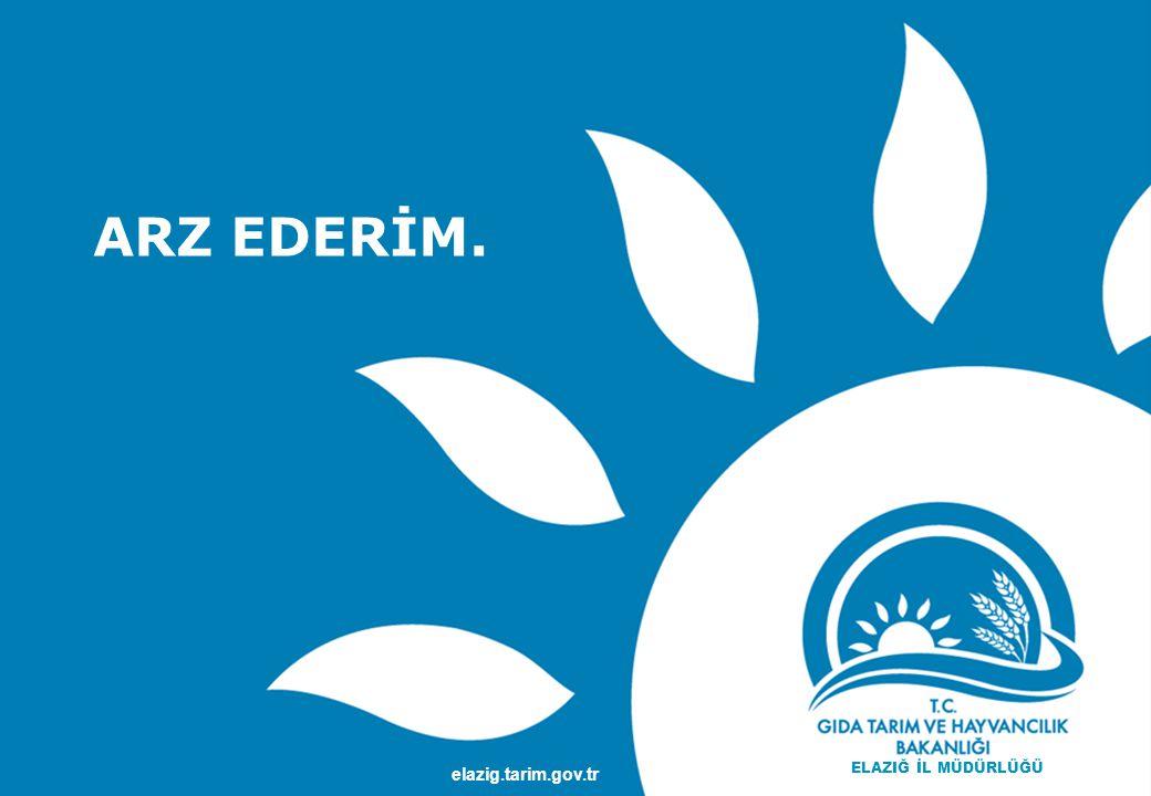 TEŞEKKÜRLER www.gsb.gov.tr ARZ EDERİM. elazig.tarim.gov.tr ELAZIĞ İL MÜDÜRLÜĞÜ