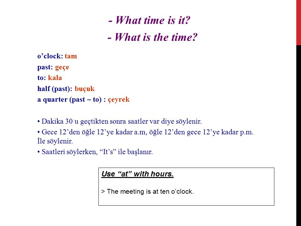 - What time is it. - What is the time.