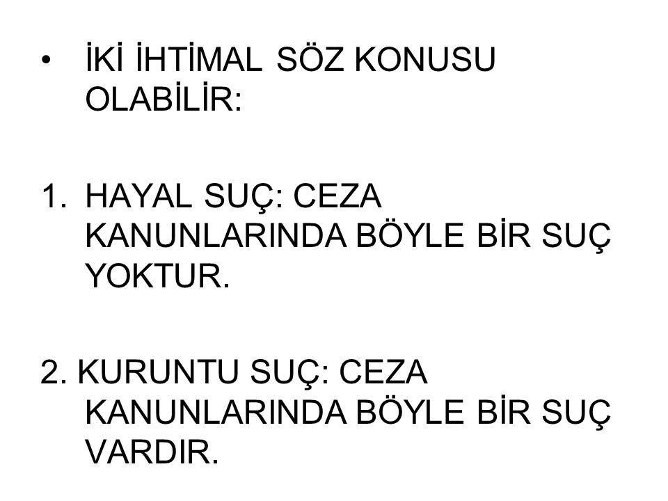 SUÇUN BASİT ŞEKLİ VE TÜREYEN HALLER Hırsızlık MADDE 141.