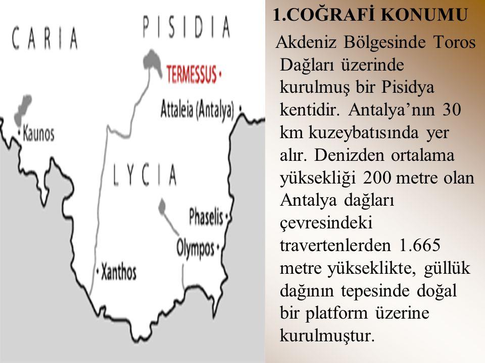 2.TARİHÇESİ Pisidya şehirlerindendir.Pamphylia ve Roma yönetiminde kalmıştır.