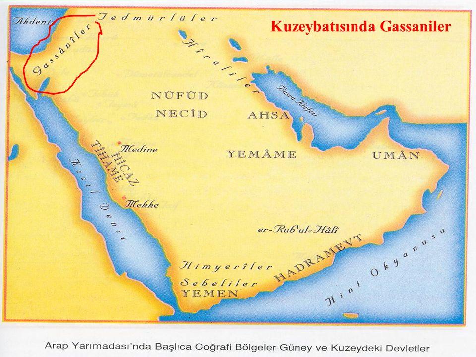 1.2 COĞRAFİ ORTAM Kuzeybatısında Gassaniler