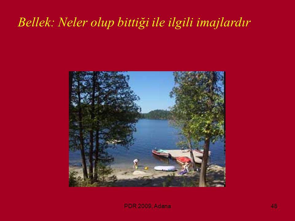 PDR 2009, Adana48 Bellek: Neler olup bittiği ile ilgili imajlardır