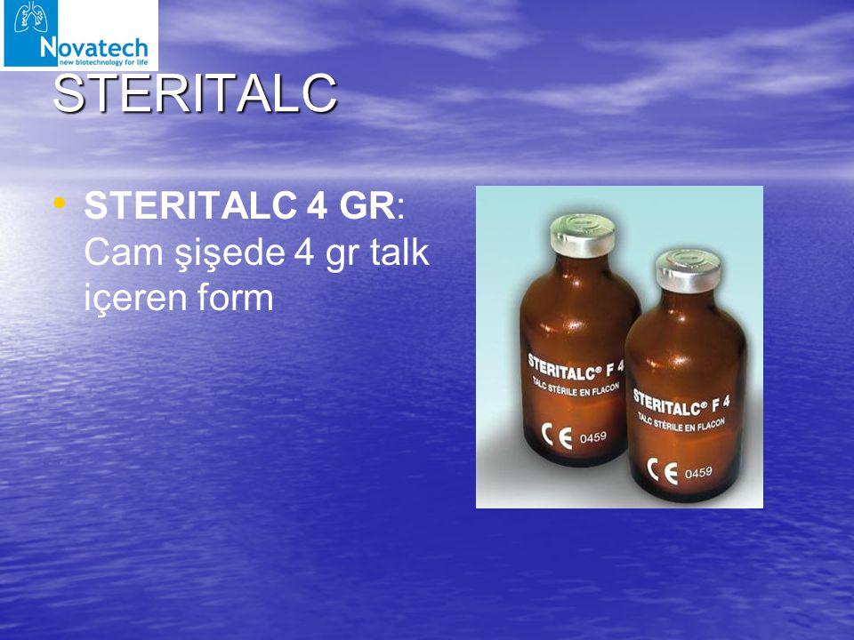 STERITALC STERITALC 4 GR: Cam şişede 4 gr talk içeren form