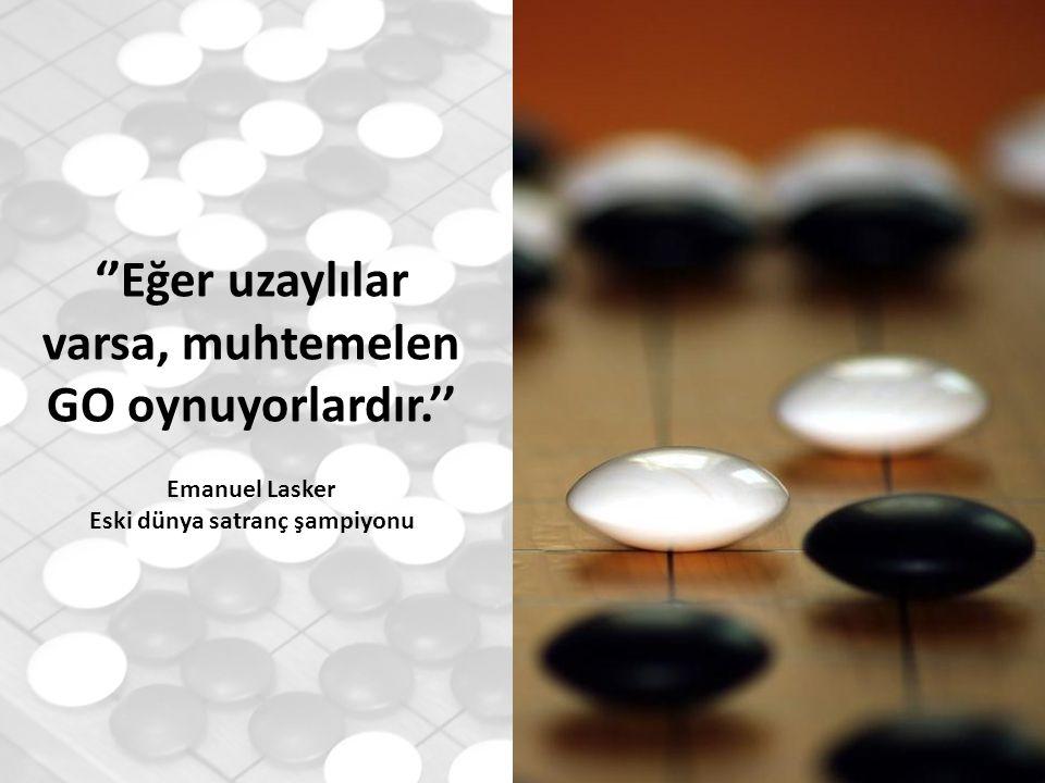 ''Eğer uzaylılar varsa, muhtemelen GO oynuyorlardır.'' Emanuel Lasker Eski dünya satranç şampiyonu