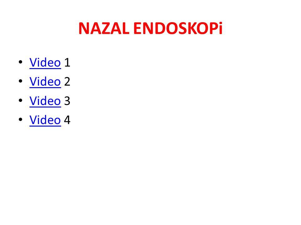 NAZAL ENDOSKOPi Video 1 Video Video 2 Video Video 3 Video Video 4 Video