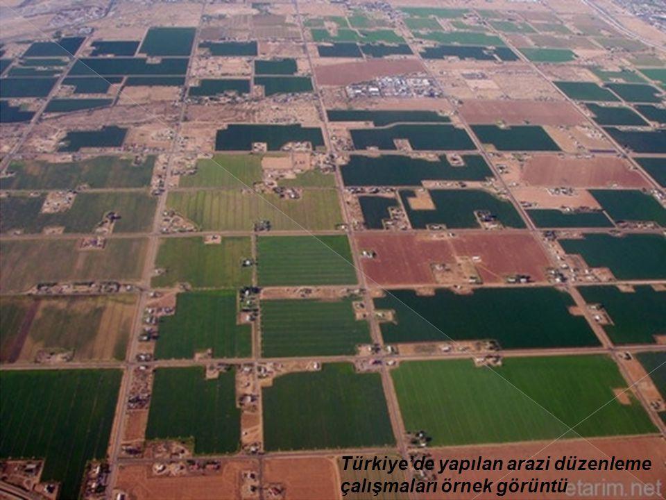 Türkiye'de yapılan arazi düzenleme çalışmaları örnek görüntü